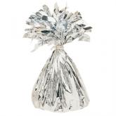 Silver 6oz Foil Tassel Balloon Weight