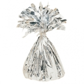 Silver 6oz Foil Tassel Balloon Weight