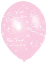 """Pink On Your Confirmation 11"""" Latex Balloons 6pk"""