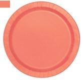 Coral Round 23cm Paper Plates 16pk
