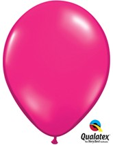 "11"" Jewel Magenta Latex Balloons 100pk"