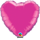 "Magenta 18"" Heart Foil Balloon"