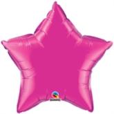 "Magenta 36"" Star Foil Balloon"