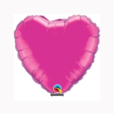 "Magenta 9"" Heart Foil Balloon"