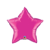 "Magenta 9"" Star Foil Balloon"