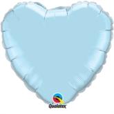 "Pearl Light Blue 36"" Heart Foil Balloon"