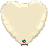 "Pearl Ivory 36"" Heart Foil Balloon"