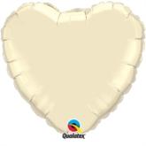 "Pearl Ivory 36"" Heart Foil Balloon"