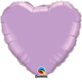 "Pearl Lavender 18"" Heart Foil Balloon"