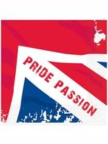 Union Jack Pride Passion Luncheon Napkins 16pk