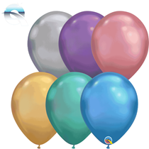 "Qualatex Chrome 11"" Mixed Latex Balloons 100pk"