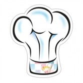 Little Cook Chef's Hat Plates 6pk