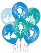 "Frozen 11"" 4 Sided Latex Balloons 6pk"