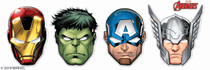 Marvel Avengers Party Masks 6pk