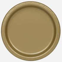 Gold disposable 9 inch paper plates 16 pack