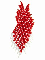 Red Polka Dot Cake Candles 12pk