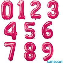 Amscan Pink Magenta Foil Giant 34 Inch Number Balloons