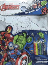 Marvel Avengers Colouring Set