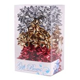 Red, Gold & Silver Metallic Galaxy Bows 35pk