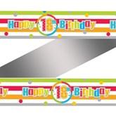 Happy 18th Birthday Rainbow Foil Banner