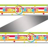 Happy 30th Birthday Rainbow Foil Banner
