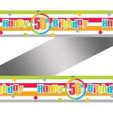 Happy 50th Birthday Rainbow Foil Banner