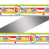 Happy 60th Birthday Rainbow Foil Banner