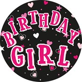 Birthday Girl Jumbo Badge