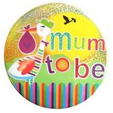 Mum to Be Stork Big Badge