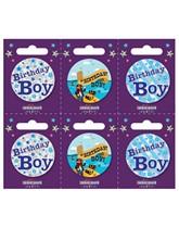 Birthday Boy Small Badges 6pk