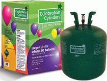 Disposable Helium Gas Balloon Canister Large