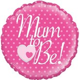 """Mum to Be Pink 18"""" Foil Balloon"""