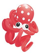 Octopus Balloon Modelling Kit (10 Balloons)
