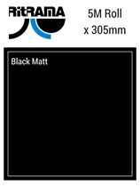 Ritrama Black Matt Vinyl 305mm x 5M