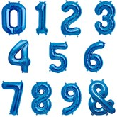 "North Star Blue 16"" Foil Numbers & Symbol Balloons"