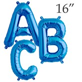 "North Star Blue 16"" Letter Foil Balloons"