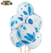 "Blue Marbled 12"" Latex Balloons 100pk"
