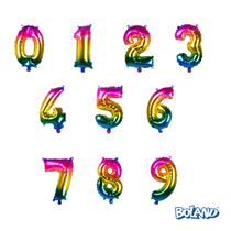 "Rainbow Number 14"" Foil Balloon"