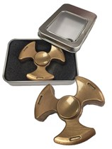 Brass Coloured Fidget Spinner With Box
