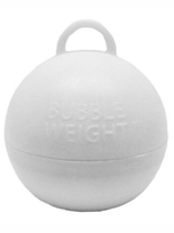 White Bubble Balloon Weight