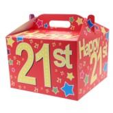 21st Birthday Carry Handle Balloon Box