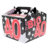 40th Birthday Carry Handle Balloon Box