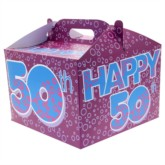 50th Birthday Carry Handle Balloon Box
