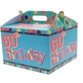 60th Birthday Carry Handle Balloon Box