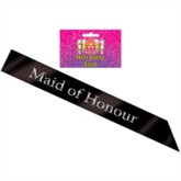 Deluxe Hen Party Maid of Honour Sash