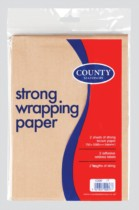2 Strong Brown Wrapping Paper Sheets