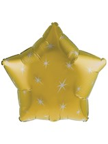 """Gold Sparkle Star Shaped 18"""" Foil Balloon"""