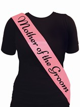 Deluxe Pink Hen Party Mother of the Groom Sash