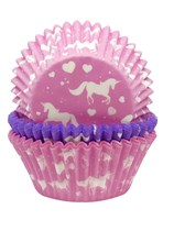 Unicorn Cupcake Cases Pink & Purple 75pk