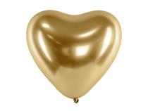 """Glossy Gold Heart Shaped 11"""" Latex Balloons 50pk"""